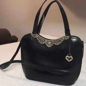 GORGEOUS!!! Brighton Black and Silver purse